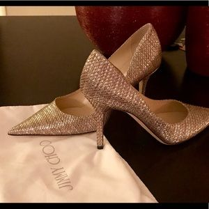 Agnes Gold Pointy Toe Mirror Pumps